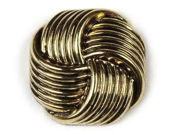 Shank button Knot, gold, Ø 23 mm